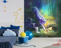 3D Waldtiger Drache 616NAM Tapete Wandbild Selbstklebend Rose Khan Fay