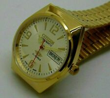 CITIZEN GOLD PLATED AUTOMATIC MEN'S JAPAN MADE MOVEMENT 8200