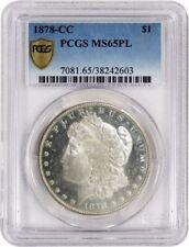 1878 CC $1 Morgan Silver Dollar VAM 2A Die Chip Nostril PCGS MS65 PL