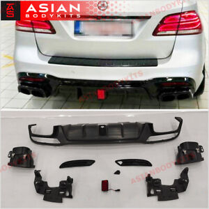 Rear diffuser with exhaust tips for Mercedes Benz GLE63 AMG W166 2016 - 2018