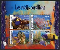 NIGER 2016 CORAL REEFS SHEET MINT NEVER HINGED