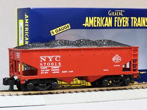 LIONEL AMERICAN FLYER NYC 2 BAY COAL HOPPER S GAUGE AF 2 rail train 6-44103 NEW