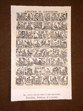 Auca delle arti e dei mestieri Barcellona Stampa popolare spagnola Spagna