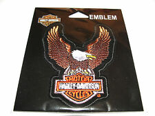 HARLEY DAVIDSON BAR&SHIELD UPWING BROWN EAGLE CLOTH PATCH EMBLEM