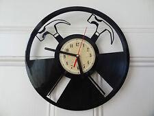 Vinyl record wall clock, Hammers design workshop bedroom home art garage shed