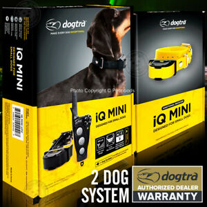 Dogtra iQ Mini Collar 2-Dog Remote Training for 7 to 35 lbs Dogs
