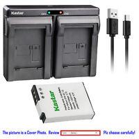 Kastar Battery Dual Charger for Nikon EN-EL12 MH-65 & Nikon Coolpix S9400 Camera