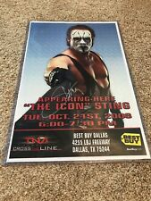 Sting Signed Poster 11 X 17. TNA WCW WWE