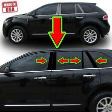 Black Pillar Trim for Lincoln MKX & Ford Edge 07-15 8pc Set Door Cover Trim