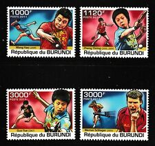 Table Tennis Champions mnh set of 4 stamps 2011 Burundi #976-9