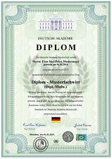 DOWNLOAD Premium Diplom, Urkunde, Zeugnis, personalisiert und fälschungssicher