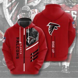 Atlanta Falcons Hoodie Men's Sports Sweatshirt Pullover Football Hooded Jacket