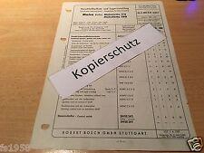 """Maico-Roller Maicoletta 175 und 250 """" Bj. ab 1955-  Bosch Verschleißteile-Liste"""