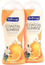 2 Softsoap 15 Oz Limited Edit Coastal Sunrise Citrus Blossom Moisture Body Wash