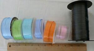 7 Roll LOT Curling Ribbon Balloon string Gift Wrap Tie Blue Aqua Pink Black More