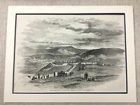 1855 The Siege Von Sewastopol Krim Krieg Redoubt Canrobert Original Antik Druck