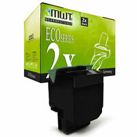 2x ECO Toner BLACK für Lexmark X-543-DN X-544-DW C-546-DTN X-546-DTN X-544-DTN