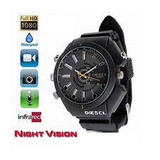 SPY Waterproof Wrist Watch 8GB Camcorder HD 1080P Night Vision Hidden Camera DVR
