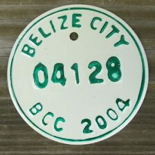 BELIZE CITY, BELIZE Motorcycle License Plate Expired 2004 - 04128
