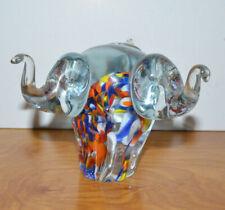 ART GLASS ELEPHANT SCULPTURE FIGURINE MURANO? RAINBOW