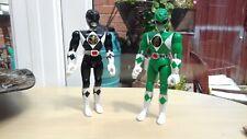 Mighty Morphin Power Rangers Green And Black Rangers, Figures Bandai 1993