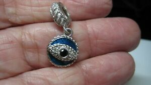 NICEJUDITH RIPKA STER SILVER CHARM W/MULTI GEMS, EXCELLENT COND, DOES NOT OPEN