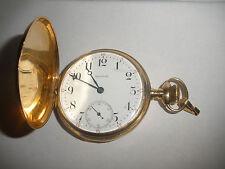 Antique 14K Solid Gold WALTHAM Pocket Watch 16s15J,Hunter Case, Run 84.3 Grams