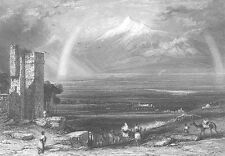 Noah's Ark Book of Genesis MOUNT ARARAT TURKEY ~ Old 1834 Art Print Engraving