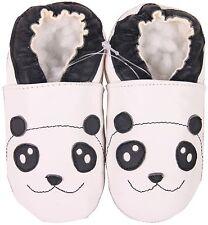 shoeszoo panda white 6-12m S soft sole leather baby shoes