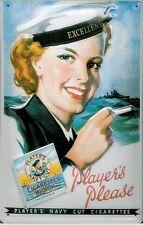 Players Please Female Sailor embossed steel sign 300mm x 200mm (hi)