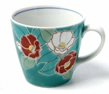 Kutani Pottery Pair Mug Cup Tsubaki Camellia Mug Cup SK-1032