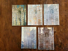 Notre Dame - Monet Impressionist post cards - complete set of 5
