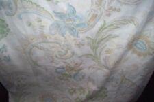 """Laura Ashley Baroque blue linen union curtains 70""""d x 64""""w"""