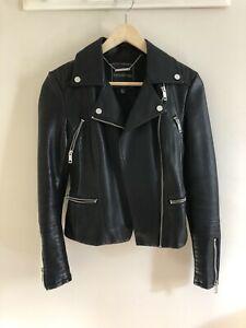 Forever New Faux Leather Biker Jacket Size 4