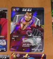 ONE PIECE MIRACLE BATTLE CARDDASS CARD RARE HOLO CARTE SR 03//08 JAPAN **