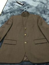 BANANA REPUBLIC Mens 42S Brown 3-Button Wool Suit~Flat Pant
