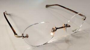 Oliver Peoples OP-679 RX Eyeglasses Antique Gold  Brown 44-20-143 Titanium Japan