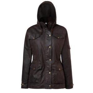 Mountain Horse Oilskin Oak Ladies Horse Riding Jacket - Dark Brown NEW Winter 18