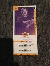 Lakers Lebron James Passes Jordan Full Unused Ticket March 6 Staples Center