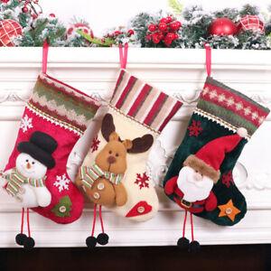 Christmas Stocking Gift Bag Flannel Small Xmas Pendant Bag Gift Bag Ornaments sw