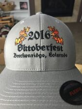2016 Oktoberfest Breckenridge Colorado Grey Flexfit S/M Baseball Cap Hat NWOT