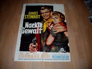 Kinoplakat: Nackte Gewalt  1. WA   JAMES STEWART+JANET LEIGH