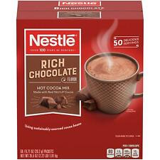 Nestle Hot Cocoa Mix, Rich Chocolate, 50 Count - 0.71 Oz Packets
