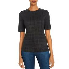 Theory Womens Black Houndstooth Back Ziper Fitted Top Shirt S BHFO 2040