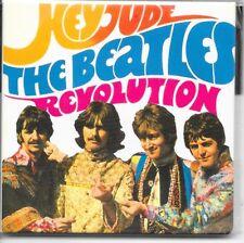 "THE BEATLES Hey Jude fridge magnet 3"" square  free UK P&P"
