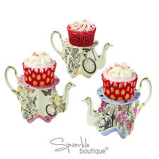 Truly Alice in Wonderland TEAPOT CAKE STANDS x6 -Mad Hatter's Tea Party- Cupcake