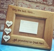Personalised Family Photo Frame With White Wooden Hearts Best Mum Nan Great Nan
