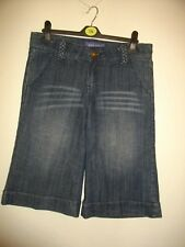 NEW * MISS POSH * BLUE DENIM CULOTTES / LONG SHORTS + STRETCH SIZE 12 RRP £49