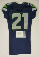 Seattle Seahawks Blank #21 Team Issued Home Jersey with COA - SA 1271