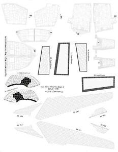 1/100 scale Early Era Shuttle White Tile Decal Set for the Tamiya Orbiter Model